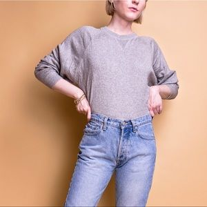 Vintage 90s gray cashmere silk crewneck sweater